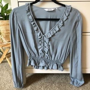 & Other Stories baby blue blouse US size 4